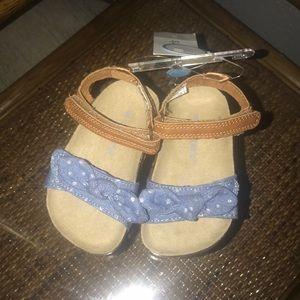 NWT Jean polka dot bow sandals